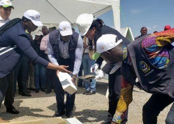 Lançamento da primeira pedra da 2ª fase da Centralidade Horizonte, na cidade do Cuito, Bié