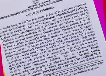 Penhora do Tribunal de Luanda sobre prédio do Condomínio Ginga Isabel