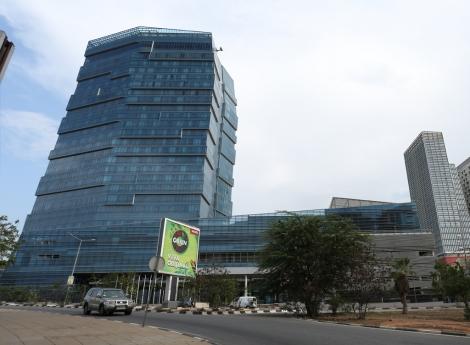 Imagem do imponente Intercontinental Casino & Hotel de Luanda que pode vir a ser inaugurado este ano
