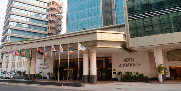 Hotel Diamante, em Luanda, propriedade da Endiama
