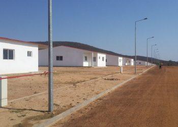 Agrupamento de casas sociais na província da Huila